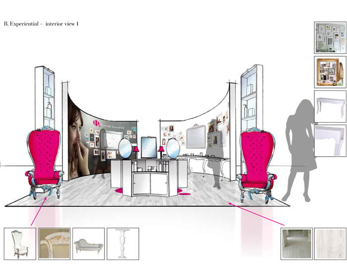 BBeauty concept sketches - experiential
