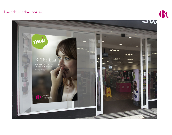 BBeauty launch Store window poster
