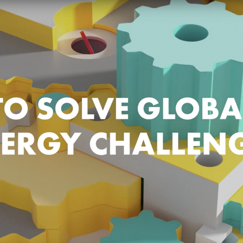 Illustration screen with 'To solve energy challenges' title